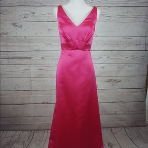 Dress, prom dress, night gown, party dress, pink